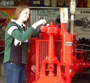 Our volunteers at the Samford Museum:  Volunteer Emma Davis.