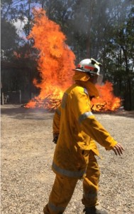 The test burn was attended by members of Samsonvale Rural Fire Brigade.