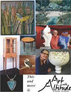 Art with Altitude exhibition.  Saturday 21st and Sunday 22nd November, 9am to 4pm, at Mount Glorious Community Hall.