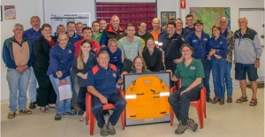 Dayboro and District Rural Fire Brigade members at their recent AGM. (A rare Nadine Anderson 'selfie' perhaps . .. 'cause there she is behind the framed firies jacket !)