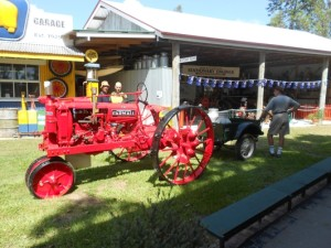 Farmall tractor restored by 'the boys' displayed Australia Day 2015.