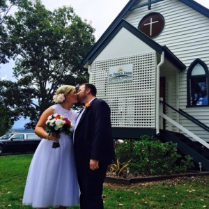 Nikki Boyd and Reece Pianta chose St Francis Xavier Church in Dayboro for their wedding on November 7, 2015.