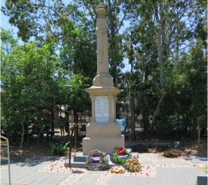 Dayboro's Cenotaph in Roderick Cruice Park.